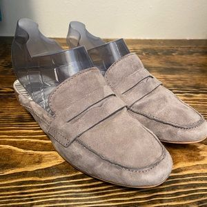 Dolce Vita Gray Suede Cybil Penny Loafer Mules